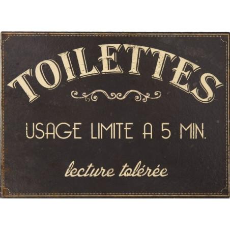 Toilettes – 5 Minutes – Lecture Tolérée