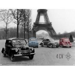 Renault 4 CV - Tour Eiffel Relief