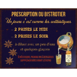 Prescription du Bistrotier - Un Pastis