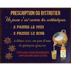 Prescription du Bistrotier - Un Pastis