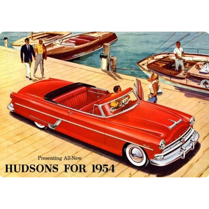 Hudsons Hornet Rouge - 1954 Décapotable
