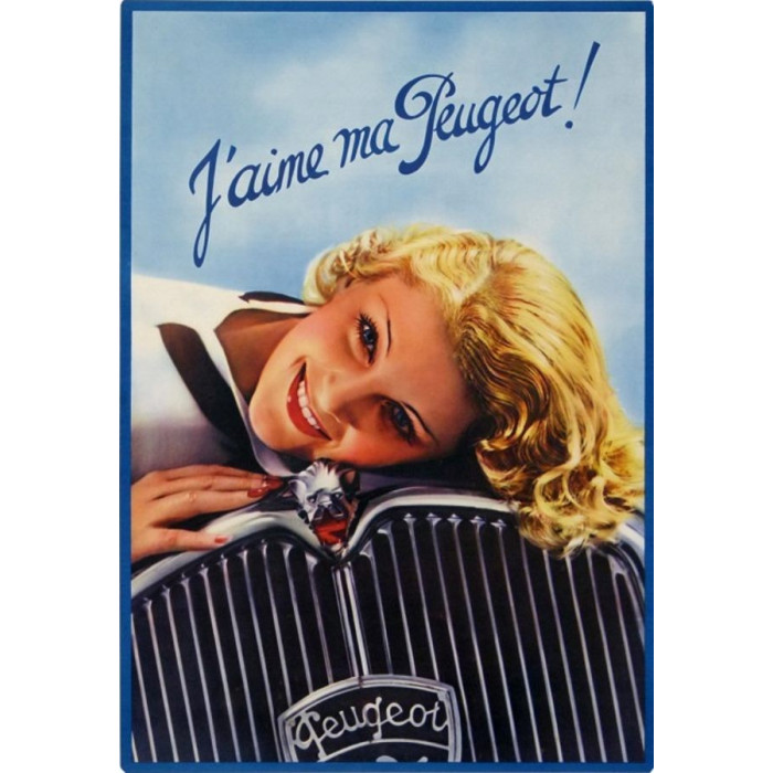 J'aime ma Peugeot – Pin up - Calandre
