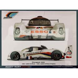 Peugeot 905 - 24h du Mans 1992 - Triplet Talbot Sport