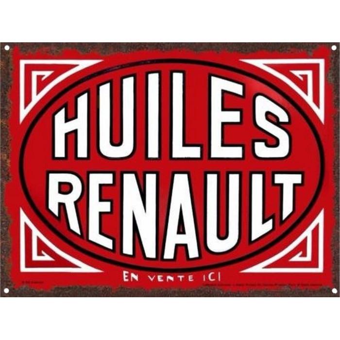 Ancienne Publicité - Huiles Renault - En Vente Ici