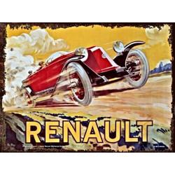 Renault - Voiture Rouge Style Art Déco