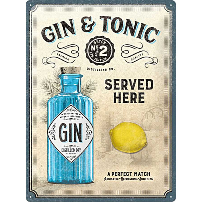 Gin Tonic Bouteille - Cocktail Citron
