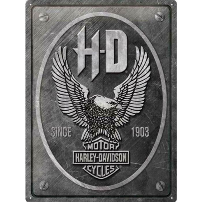 Harley davidson - Emblème Aigle sur fond Gris