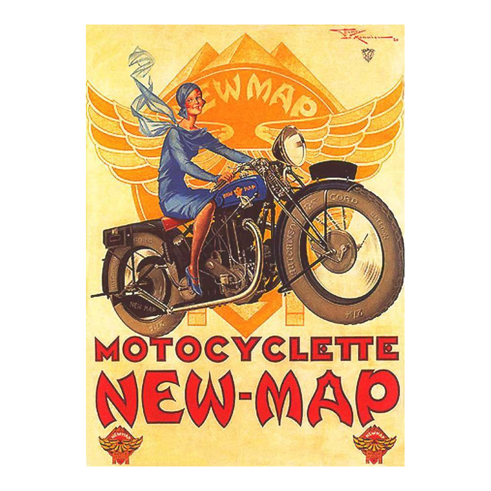 New Map – Motorcycle - Motocyclette