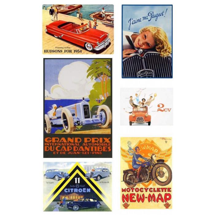 Pack Voitures Vintage et Moto Anciennes