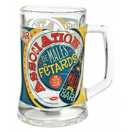 Verres à Bière - Chope à bière - Association de mâles fêtards