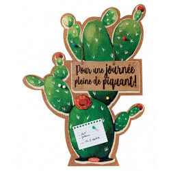 Mémo Mural Courses Cactus - Pense Bête - To Do Liste