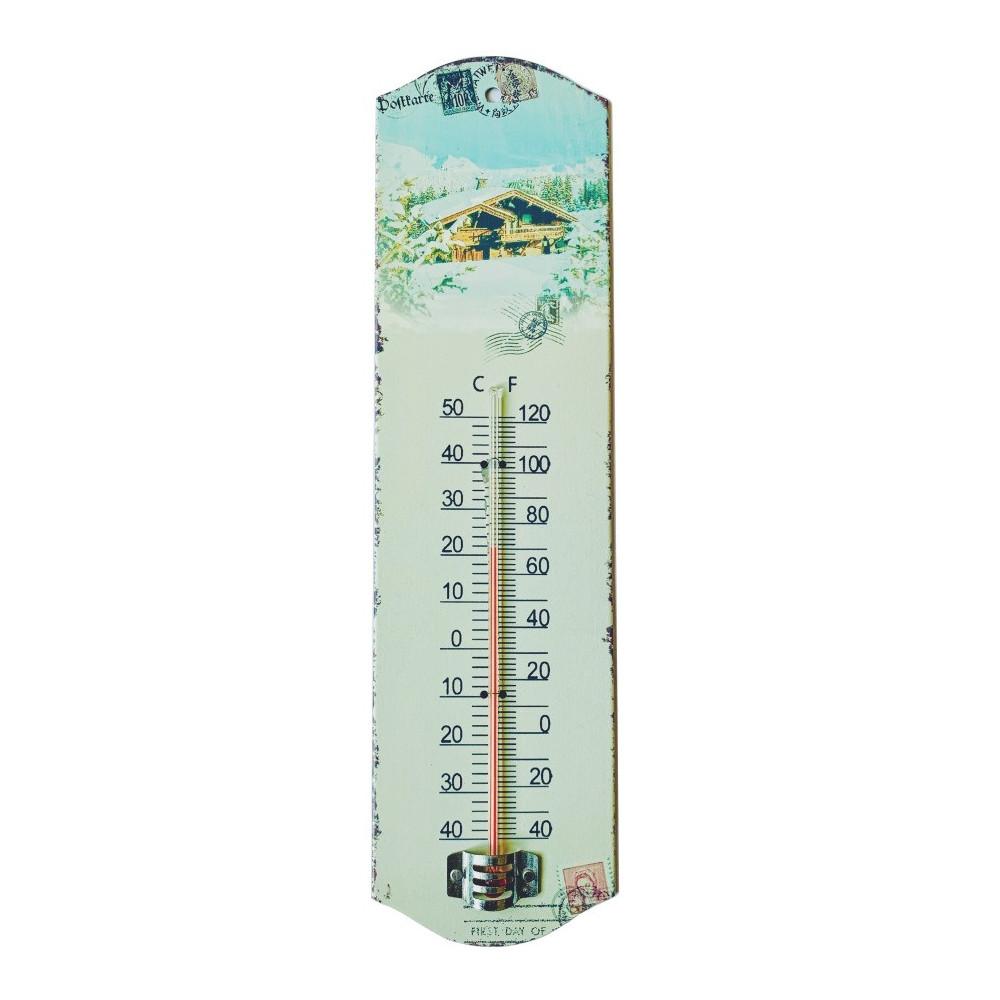 Thermomètre Montagne - Chalet & Neige