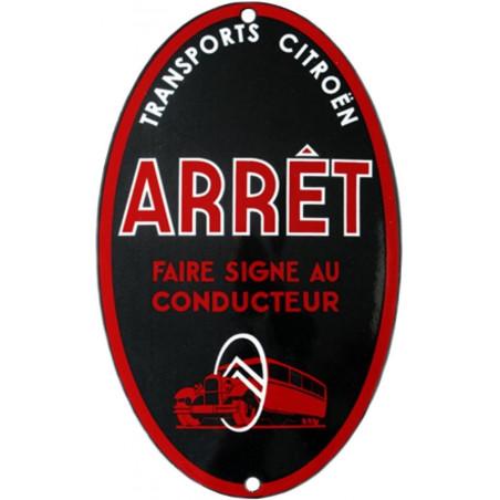 Citroën Tansport Camion Arrêt Garage - Plaque émaillée
