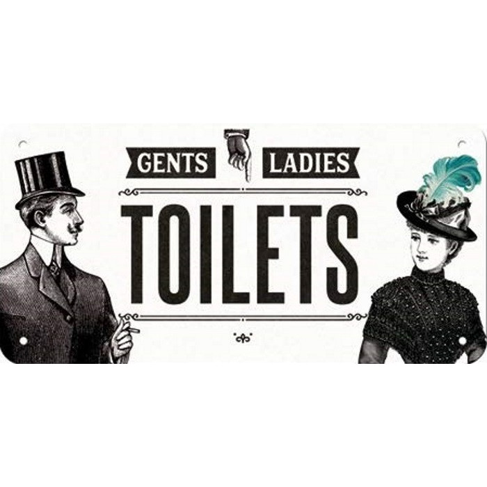 Plaque Toilettes - Toilets Gents - Ladies