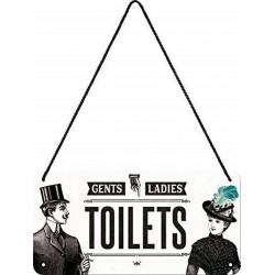 Plaque Toilettes - Toilets Gents - Ladies