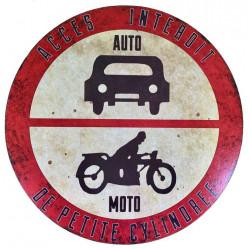 Interdiction de Stationner - Accès interdit - Auto Moto