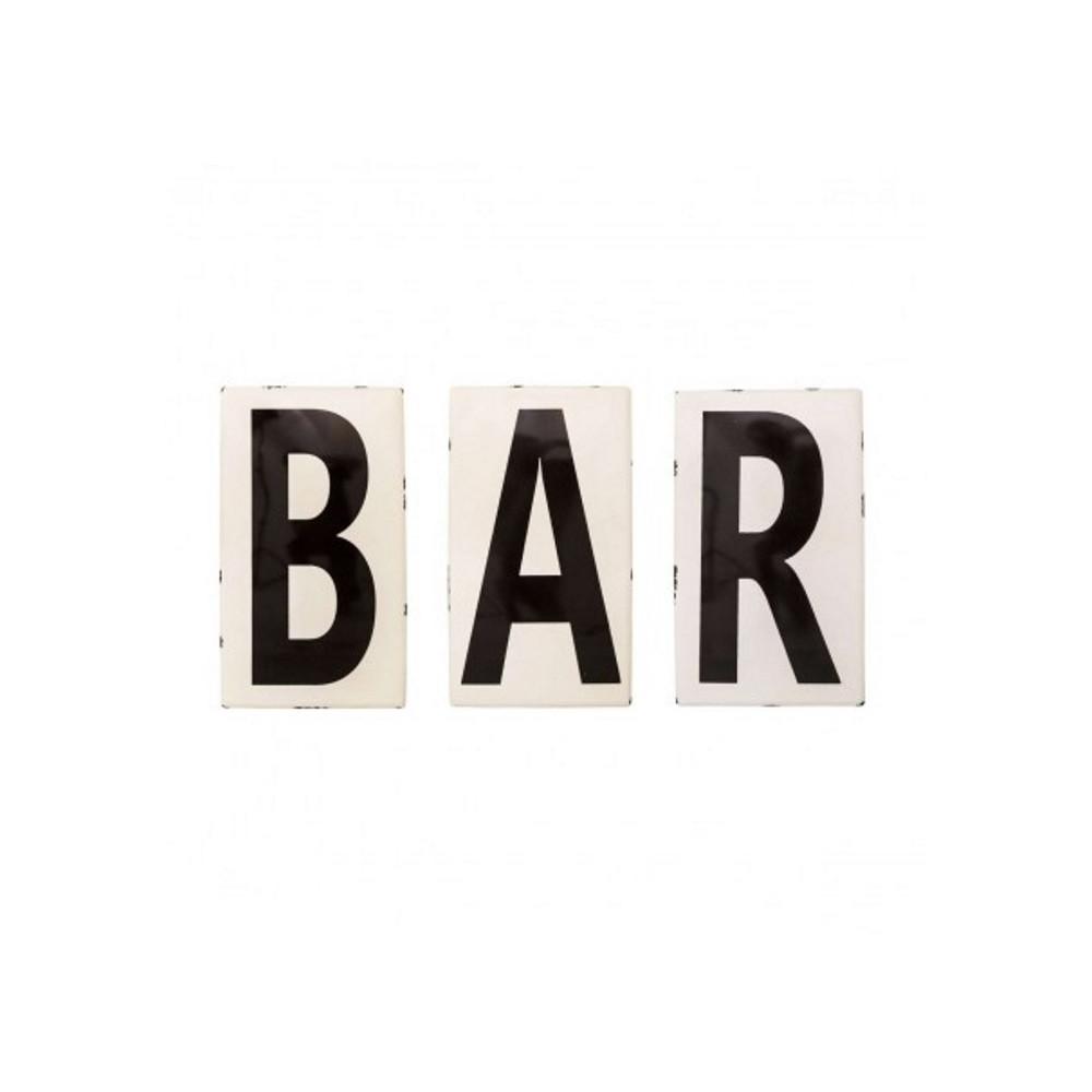 BAR - Mot Lettres émaillées