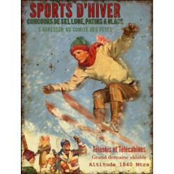 Sports d'Hiver - Ski Haute montagne Vintage