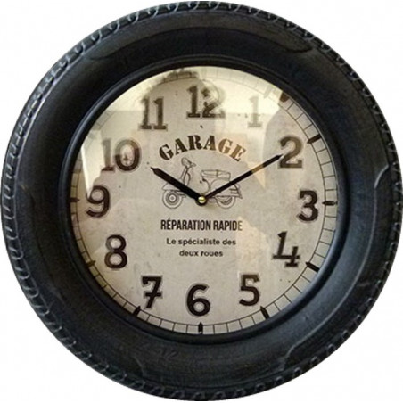 Horloge Garage Scooter Vintage - Pneu