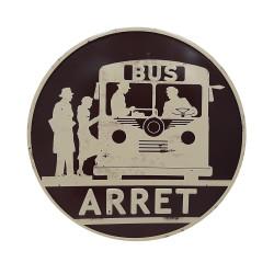 Panneau arrêt de bus