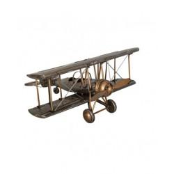 Avion à deux ailes en acier