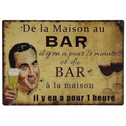 De la maison au bar - humour