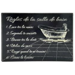 Règles de la salle de bain