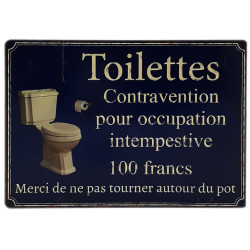 Toilettes contravention