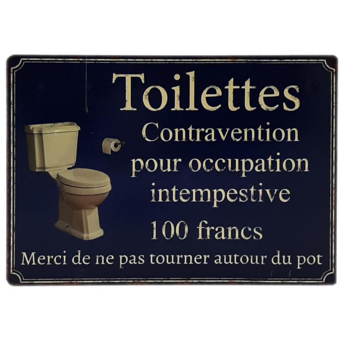 Toilettes contravention