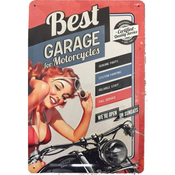 Pinup - Best Garage - For Motorcycles