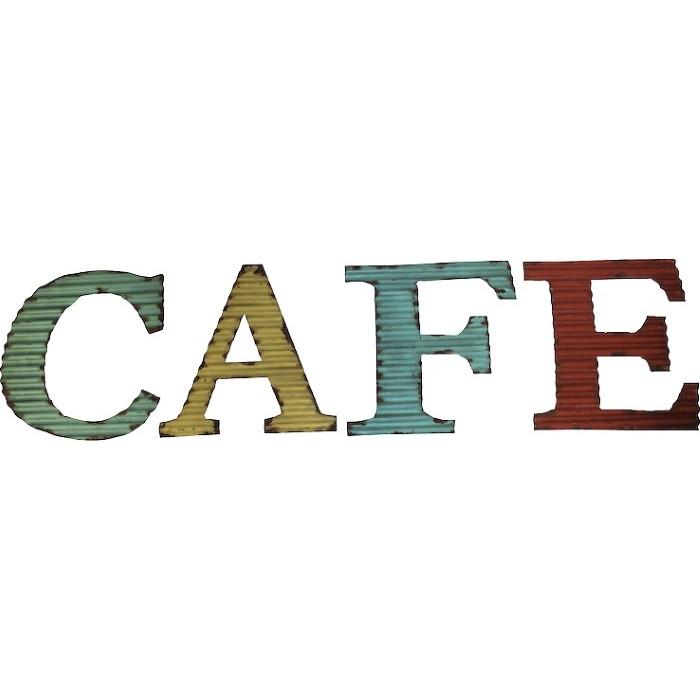 Lettres Café - Tôle ondulée
