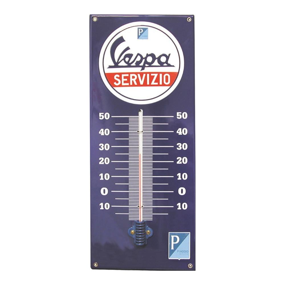 Thermomètre Vespa Servizio -Emaillé