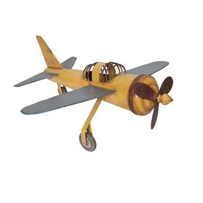 Avion à Hélices - Jaune Vintage