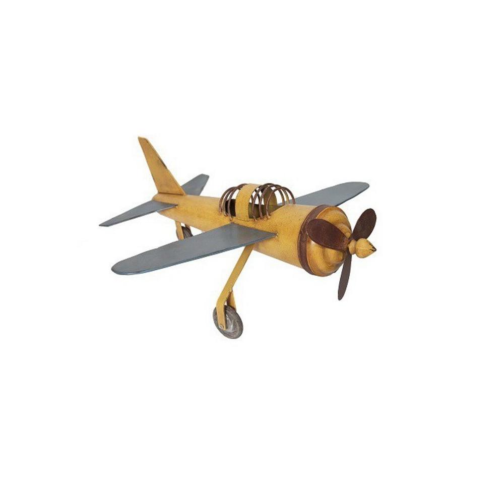 Avion Métal - Jaune Vintage