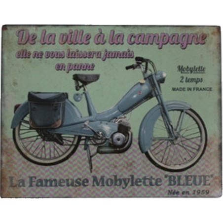 Mobylette Bleue 1959 – De La Ville à La Campagne