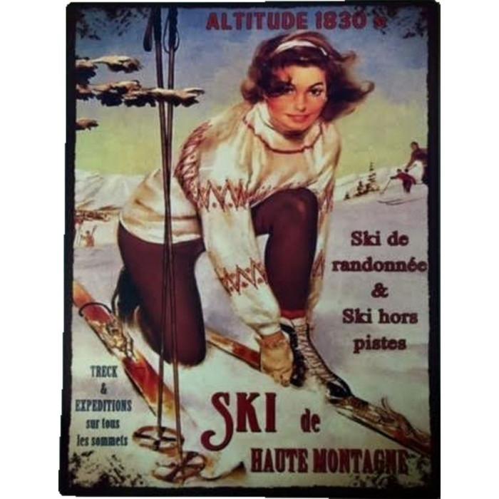 Ski De Haute Montagne Vintage