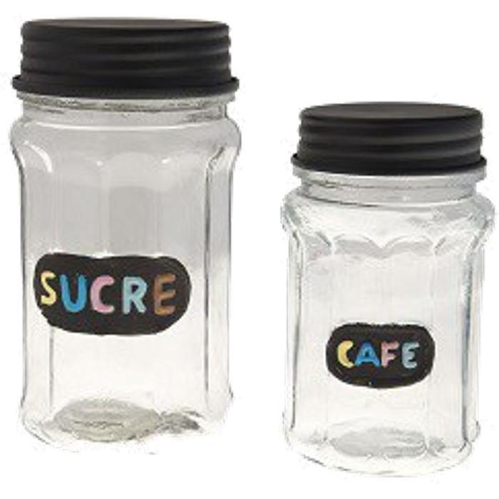 Set 2 pots - Sucre et Café