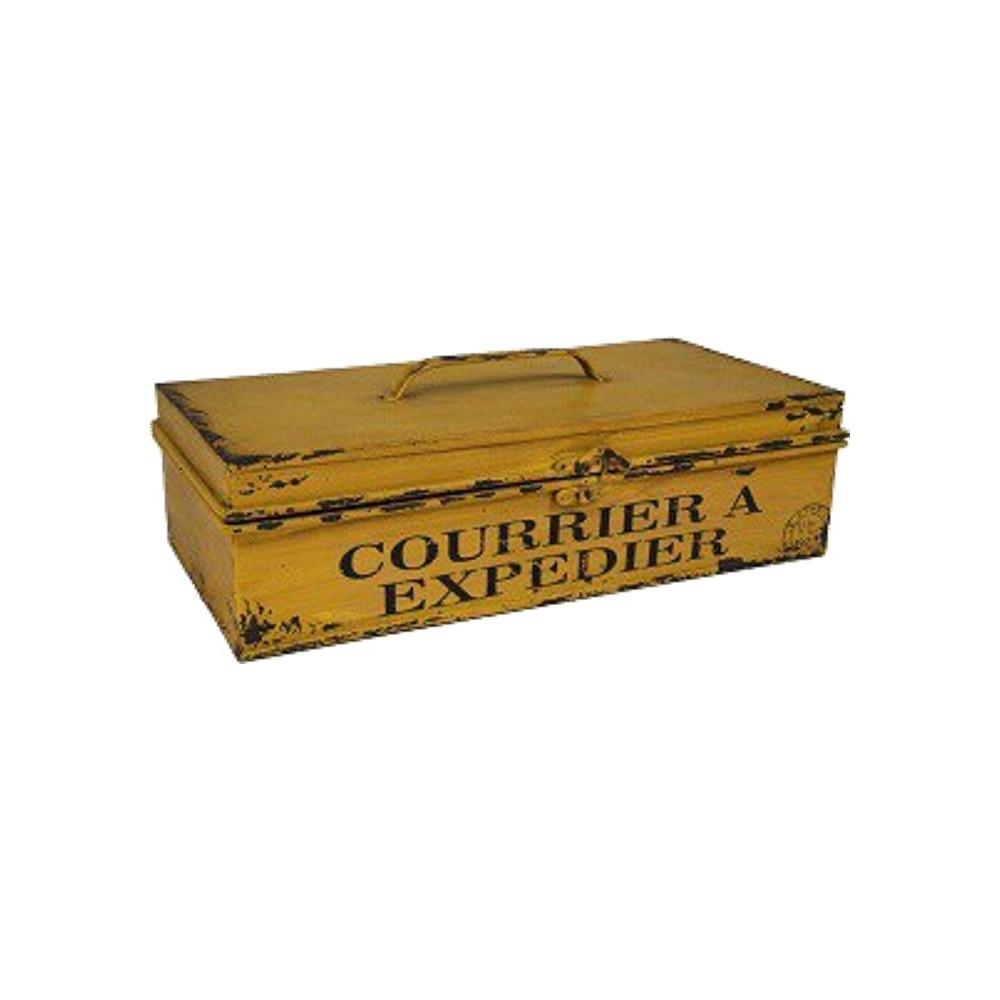 La Boite Jaune Prix boite jaune postale décoration - courrier à expédier déco vintage